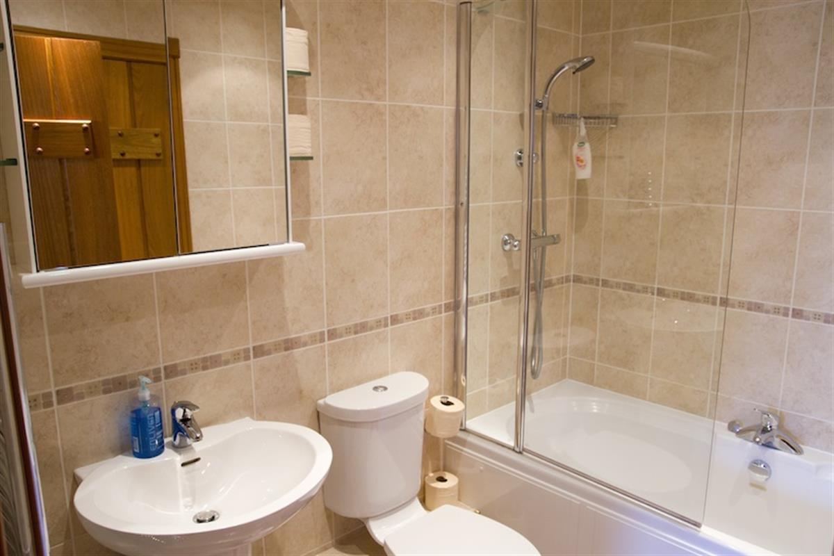 THE RICKYARD B&B DOUBLE ROOM WITH SHOWER OVER BATH